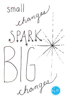 Small changes spark big changes - the10principles